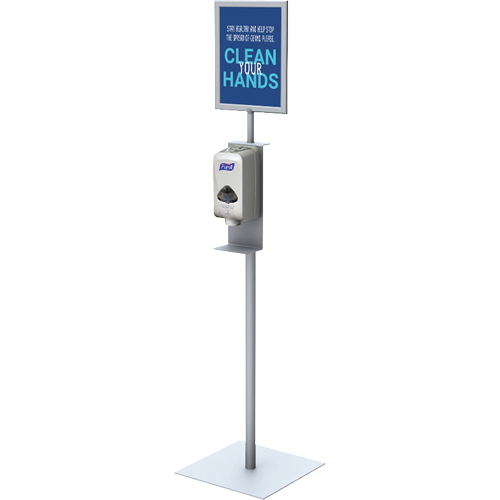 Hand Sanitizer Stand with Sign Frame